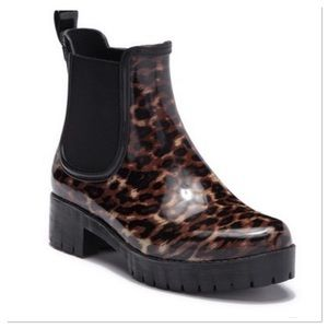 Jeffrey Campbell Cloudy Chelsea Rain Boot animal